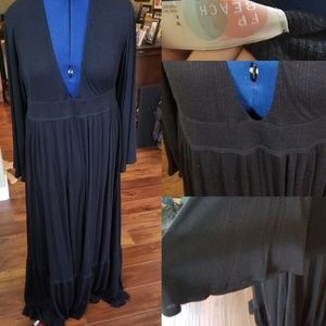 Freepeople black maxi beach cover up